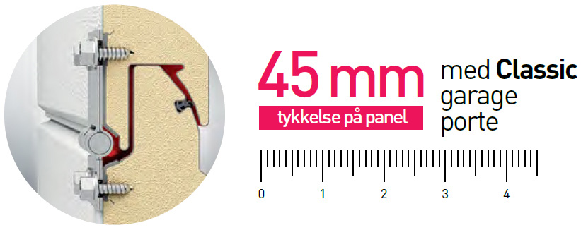 Classic 45mm paneltykkelse