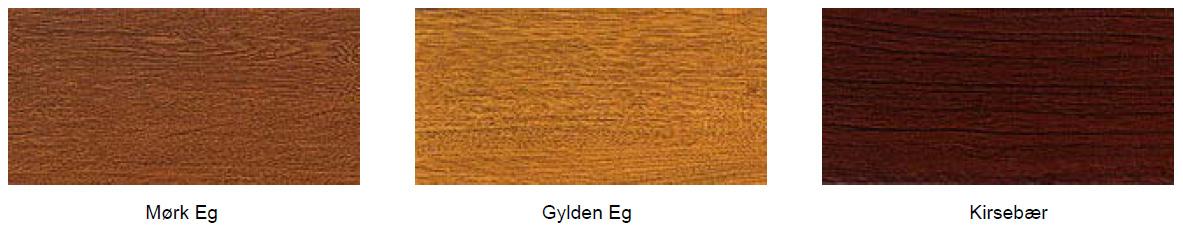 Imiteret træstruktur på paneler